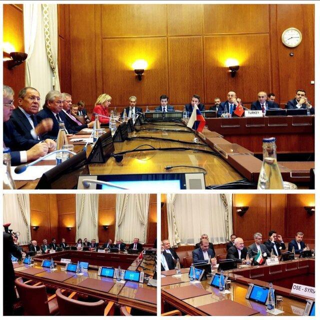 شروع نشست سه جانبه وزیران امور خارجه عضو روند آستانه در ژنو