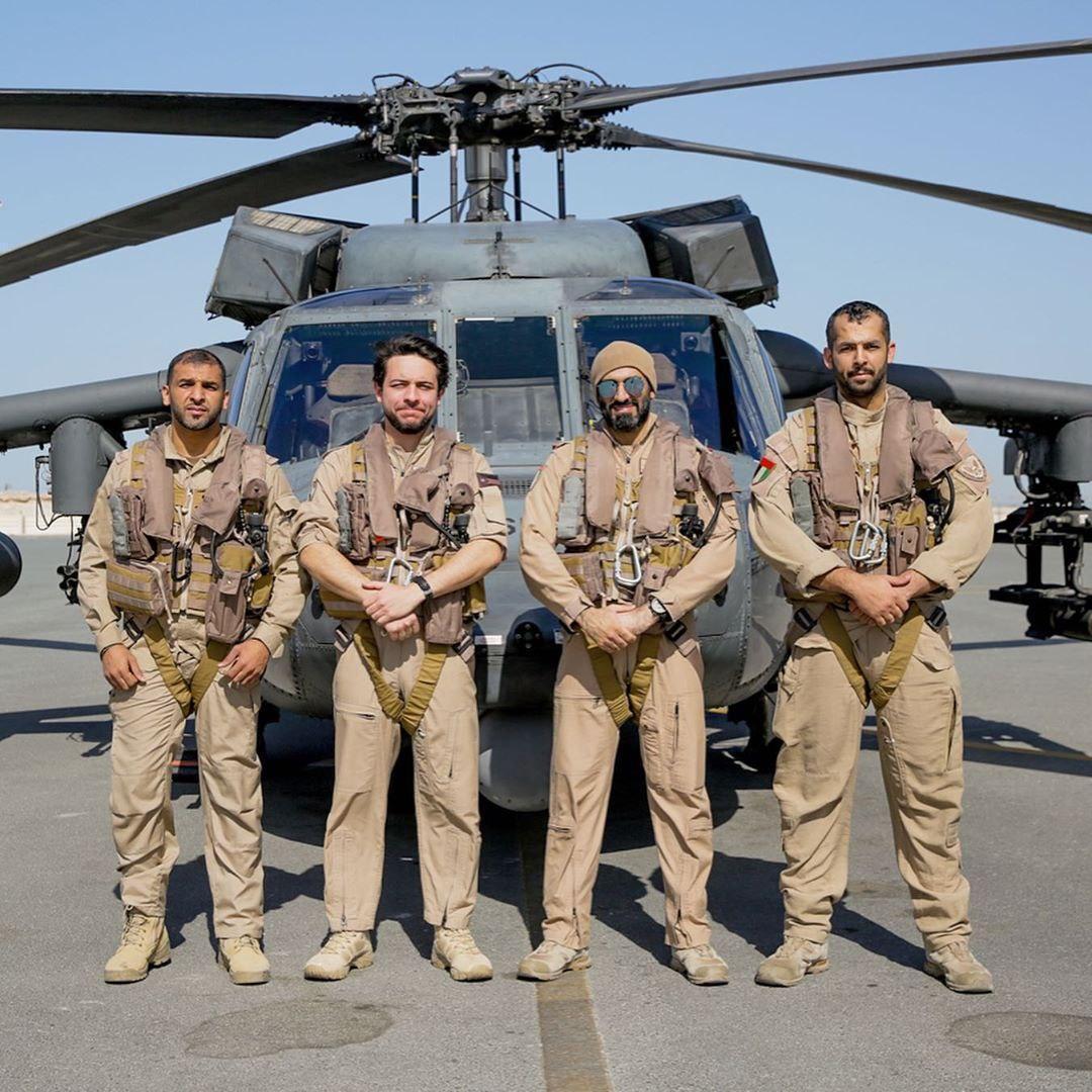 ماموریت نظامی ولیعهد اردن در امارات (